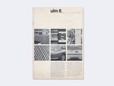 Display | Journal of the Hochschule fur Gestaltung ulm 6 | Collection