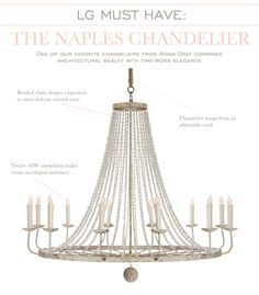 The Naples Chandelier from Aidan Gray #laylagrayce #aidangray #lightingndchandeliers