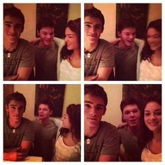 THE GIVER Set Pictures - the actors who play Jonas, Asher, and Fiona