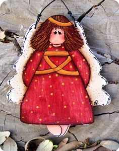 *TOLE PAINTING ~ Audrey Angel Ornament.