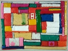 """While still living in New York, Wieland became preoccupied with the question of national identity and began to make artwork related to Canada. """"Confedspread,"""" National Gallery of Canada. Pop Art, Multimedia Artist, Canada, Canadian Artists, Online Art, Art History, Original Art, Quilts, This Or That Questions"""