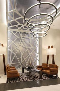 Museum Tower Apartments, Charlotte, NC #chandelier, #floorlamp, #moderndesign, #inlight, #LED Tower Apartment, Led Fixtures, Museum, Charlotte Nc, Chandelier, Ceiling Lights, Lighting, Home Decor, Contemporary Design