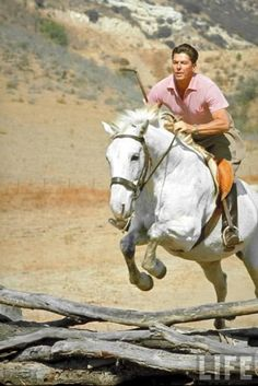 Ronald Reagan loved riding horses LOVE THIS!!