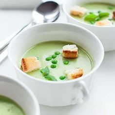 Zupa krem porowo-ziemniaczana z groszkiem | Kwestia Smaku