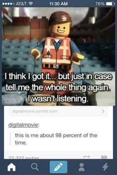 My life in a pic.  I saw this and I'm watching the Lego movie, and this scene just played when I saw it.