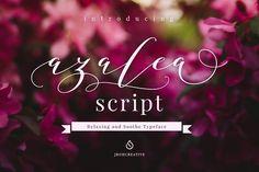 Azalea Script. Pretty scripts perfect for headers, wedding invites, stationery, quotes etc. Instant download