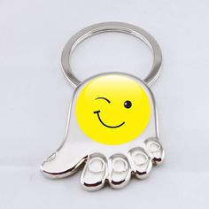 cute smile face Keychain (hand shape)