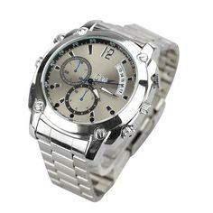 FLY-Shop 16GB Uhrkamera/ Digitale Video Uhr/HD 1080P IR Nachtsicht DVR Spion versteckte Kamera-Uhr sc341 Wasserdicht