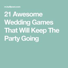21 Awesome Wedding Games That Will Keep The Party Going
