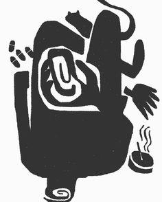 Decay : drawing on phone #paper53 #moleskine #drugs #makeitonmobile #art #saulbass #illustrationart #takemagazine #communicationarts #freehand #minimal #conceptual #cats #endoftheworld #mobilephone #themostfamousartist #terror