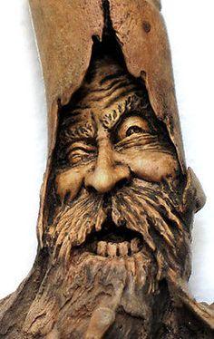 Original Miniature Wizard Wood Spirit Carving Hanging Sorcerer OOAK Nancy Tuttle | eBay