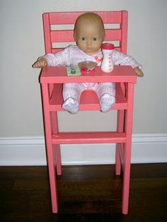 Ana White's DIY Highchair as party favors
