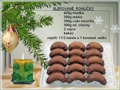 Christmas Candy, Christmas Baking, Christmas Cookies, Xmas, Czech Recipes, Thing 1, Biscuits, Food And Drink, Place Card Holders
