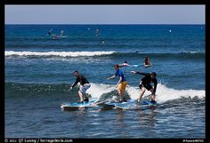 Surfing lessons in Lahaina, Maui