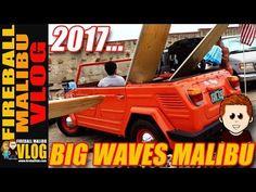 BIG WAVES & COOL CARS MALIBU SURFRIDER BEACH! - FIREBALL MALIBU VLOG 645