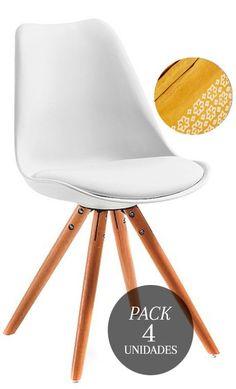 🍌 DECO a lo Spicy MUSTARD con el NUEVO pack Kandem Oslo: x4 #sillas, un plaid Duguri de REGALO  #decoración #promo #interiorismo