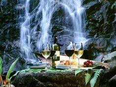 waterfall picnic