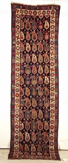 Talish Long Rug, Southeast Caucasus, last quarter 19th century,  11 ft. x 3 ft. 2 in.    Skinner Auctioneers