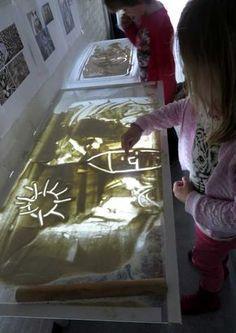 The sand wizard, angles theme theme art for toddlers 1 kleuteridee. Toddler Activities, Preschool Activities, Art For Kids, Crafts For Kids, Toddler Art, Sand Art, Sand Painting, Reggio Emilia, Art Themes