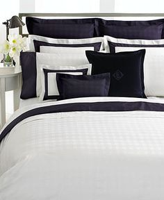 Lauren Ralph Lauren Bedding, White Glen Plaid Suite Collection - Bedding Collections - Bed & Bath - Macy's