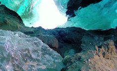 Impresionantes capturas realizadas con un Drone en las más gélidas cuevas de Alaska