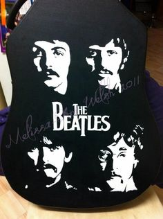 Beatles painting I did on a guitar case. <3 the Beatles.