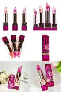 [Visit to Buy] Fashion Lip Gloss Charm Jelly Flower Change Color Lipstick Long Lasting Moisturizing Hot Sale #Advertisement