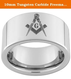 10mm Tungsten Carbide Freemason Masonic Ring size 11 1/2. This Tungsten Carbide Ring Is a 10mm wide FLAT/PIPE with one(1) MASONIC image and an Ultra-Bright Finish. We recommend visiting more than one jewelry store to measure your finger. Your local mall is a great place to go (it is a free service). Because printable and plastic ring finger sizers can be inaccurate we recommend that you do not use them to size your finger. There is a 20% exchange/return fee on all personalized rings…
