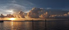 Sunset Panorama from The Galleon Resort Photography Photos, Wedding Photography, Key West Wedding, Florida Keys, My Images, Sunsets, Clouds, Explore, Outdoor