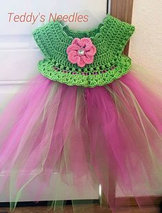 Ravelry: Project Gallery for Empire Waist Crochet Tutu Dress with Cluster Pearl Detail pattern by Patricia Klonoski
