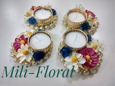 This Diwali lighten up your home with these floral Diya Made of artificial flowers and metal Diya holders. Perfect gifting option during Diwali. Place your order soon. Bulk orders also accepted. DM for more details. Diya Decoration Ideas, Diy Diwali Decorations, Diwali Diya, Diwali Craft, Diy Crafts For Gifts, Paper Crafts, Gift For Raksha Bandhan, Diwali Candles, Diy Wedding Gifts