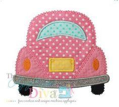 Applique :: Holiday and Seasons :: Summer Fun :: #481- Back of Bug Car Applique - The Applique Diva