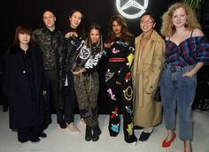 Xiao Li, Luke Gilford, William Fan, Tommy Genesis, M.I.A., Steven Tai and Anna October at The Mercedes-Benz #Mbcollective Launch Party