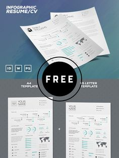 98 Awesome Free Resume Templates in this post are made by creative designers for designers and these resume templates are fully editable, so you can replace the text, change the name, add your phone number and address of your own. Infographic Resume Template, Modern Resume Template, Free Infographic, Resume Template Free, Free Resume, Letter Templates, Print Templates, Psd Templates, Resume Design