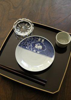 染付兎文5寸皿/新道工房作 うつわ ももふく -作家もの和食器の店- Onlineshop