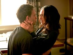 """Patrick J. Adams stars as Mike Ross and Meghan Markle stars as Rachel Zane in the Suits episode """"Breakfast, Lunch and Dinner."""""""
