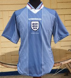 ENGLAND 1996 EURO HOST SEMI- FINALS AWAY JERSEY VINTAGE UMBRO SHIRT LARGE Vintage Jerseys, Semi Final, Football Jerseys, Jersey Shirt, Finals, Euro, Soccer, England, Classic