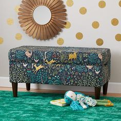 Upholstered Storage Bench W/legs (folkland Admiral)