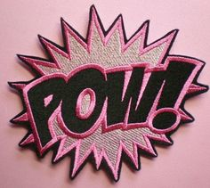 Grand fer de POW brodé sur Patch appliques, Super héros Patch, Patch de dessin animé, mot, sensibilisation au Cancer, Patch de coureurs, Roller Derby Patch