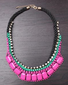 Colored Rope Necklace