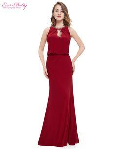 Ever Pretty EP08383 2017 New Arrival Elegant Keyhole Neckline Blue Long Sexy Cheap Formal Evening Prom Dress