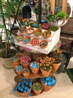 Our Gypsy Garden display piece featuring our mini garden items!  -Maura #studiom #minigarden  Gypsy Garden items can be found at.. Jackie's... 1388 Bill Virdon Blvd, West Plains, MO 65775