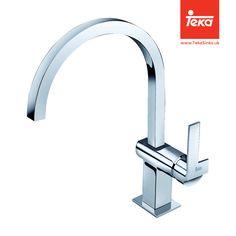 BTK152. MZ. SINGLE LEVER DESIGNER STYLE TAP. View our range of stylish taps at: http://www.tekasinks.uk/#Taps #TekaTaps