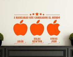 Ebre Vinil #Vinilo #Decoración 3 manzanas que cambiaron el mundo 03200