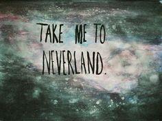 """Cytat """"Take me to neverland"""" w wersji naklejka ścienna"""