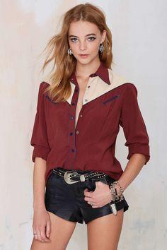 Vintage Gio Gabardine Shirt | Shop Vintage at Nasty Gal!