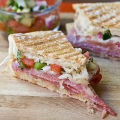 Salami, Prosciutto & Provolone Panini...inspired by a fantastic sandwich I had on my summer vacation