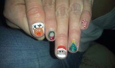 All Christmas nails!!!!!