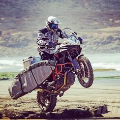 The KTM 1190 Adventure. Also doubles as a surfboard transporter