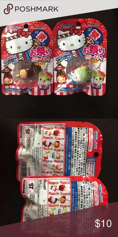 Hello kitty phone charm/ key chain RARE hello kitty keychain/ phone charm from japan! New in package! They are numbers 3 & 5 if you look at the second pic back of package! Sanrio Accessories Key & Card Holders